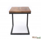 Preview: Laptop table VINTAGE made of solid mango wood 40x40x50 cm | Tree trunk furniture