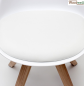 Preview: Kitchen and dining room chair milan in white pp pvc and wood