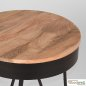 Preview: Corner table SARAN made of solid natural mango wood 44x44x43 cm | Tree trunk furniture