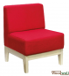 Preview: Single-seater bench with comfortable seat and back cushions
