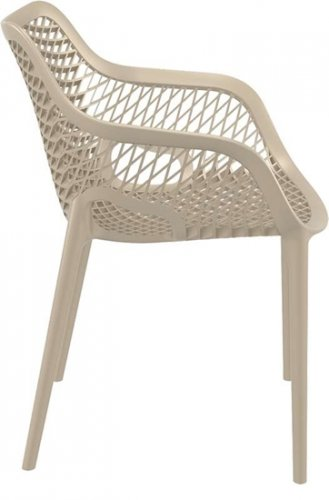 XL bistro chair AIR made of plastic I stacking chair AIR I outdoor chair with honeycomb pattern