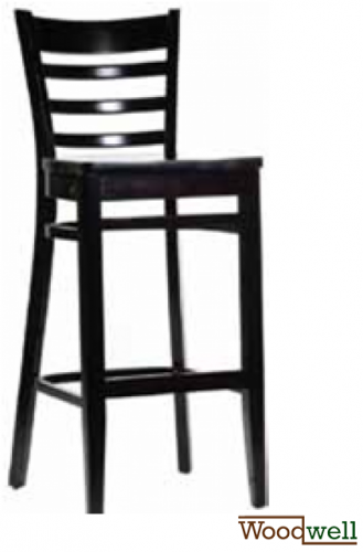"Barstool made of beech wood in the colour ""wenge"""