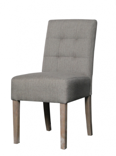 Dinning chair sem in natural fabric and wood by woodwell