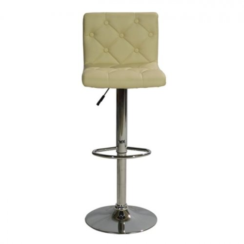 Bar stool with metal frame | In cream color