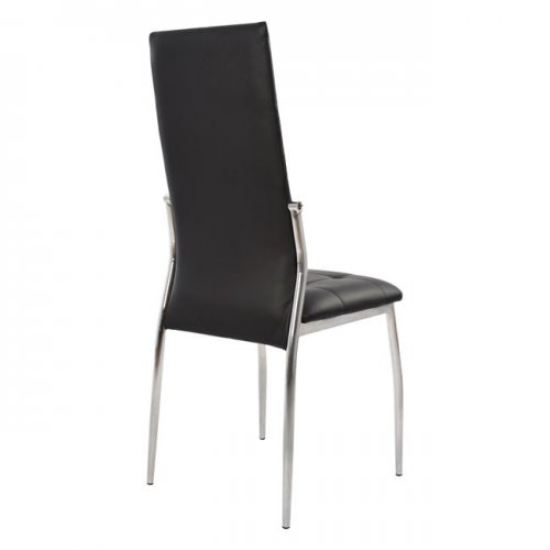 Kitchen Chair / CAREY / Black Artificial Leather And Metal Skeleton / Woodwell