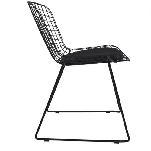 Harry Bertoia  Wire Stuhl Schwarz-Woodwell