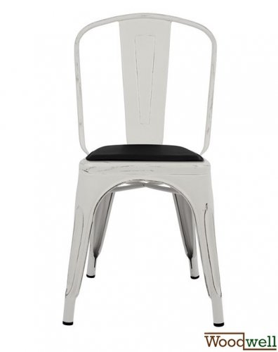 Antique chair Industrial Design | Patina white