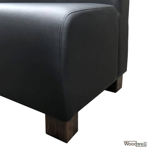 HIT Leatherette bench with wooden legs 1100 mm