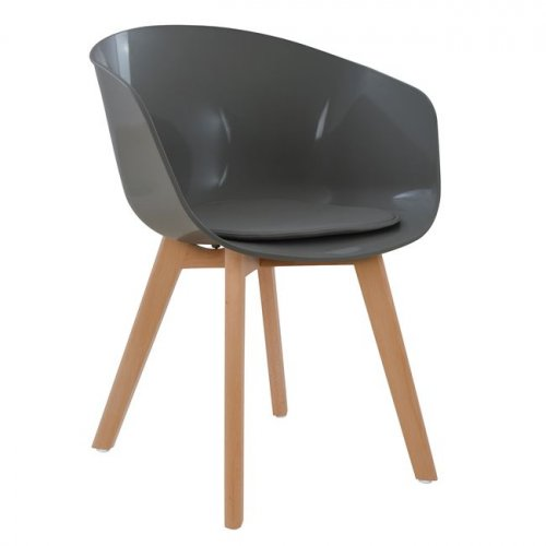 inspired Design DAW chair, polypropylene dining chair, gray,  Woodwell