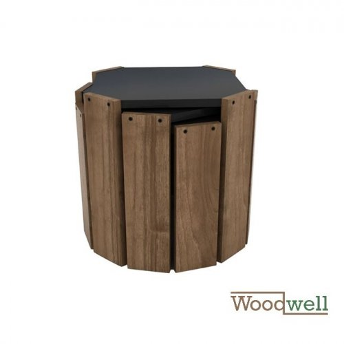 "Side table ""Hansel"" 3 pcs. Walnut look 