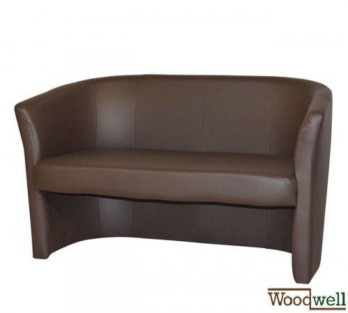 Two seater sofa with timeless design in brown