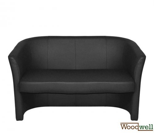 Two seater sofa with timeless design in black