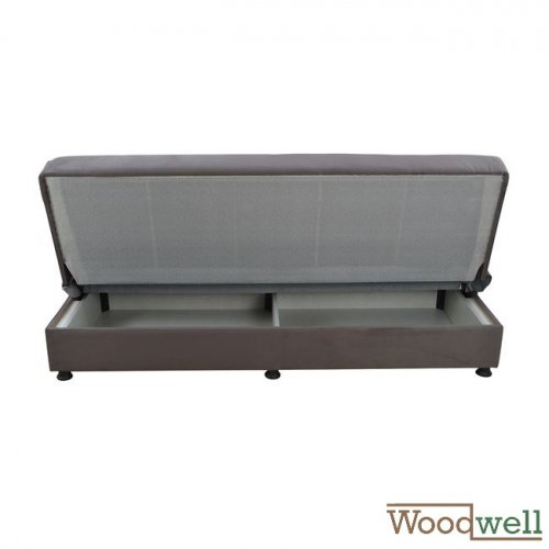 3 seater sofa bed with storage space | In gray