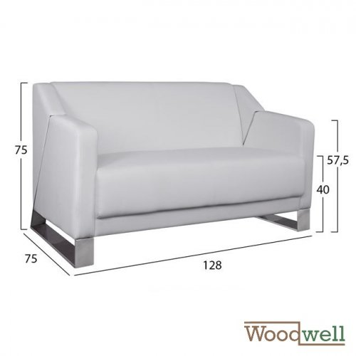 """Kizzy"" Two-seater sofa in white"