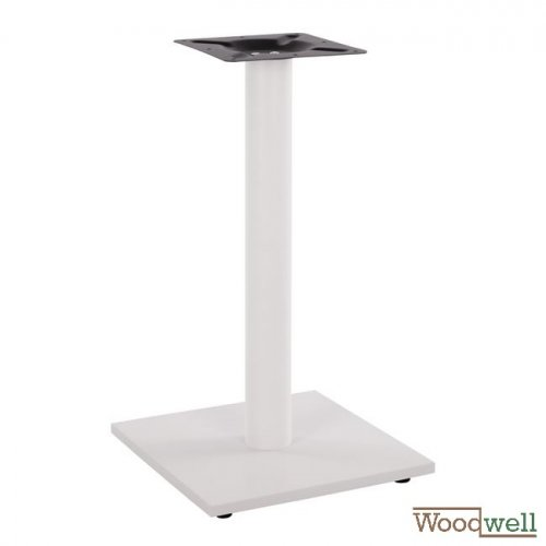 Indoor and outdoor table base made of metal 40x40x72 cm | Matt white