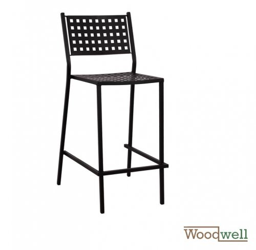 Classic bar stool, in black