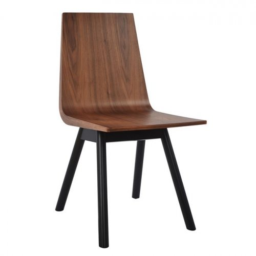 Walnut chair venner with black legs