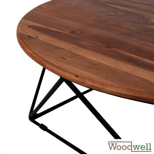 Table made of solid acacia wood Φ 90x36,5Y cm | Tree trunk furniture