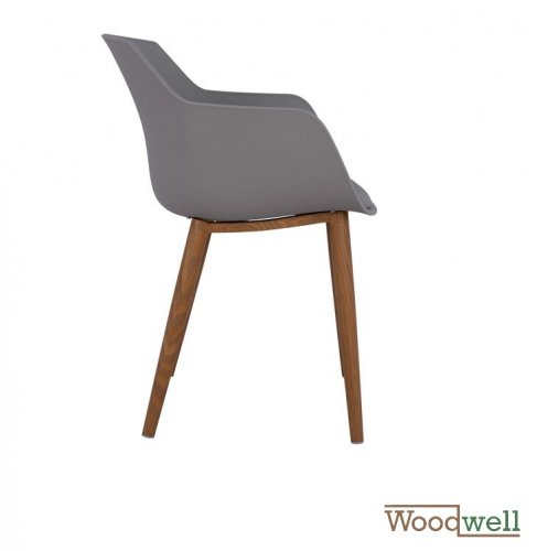 Modern chair LUCIE made of polypropylene, in gray