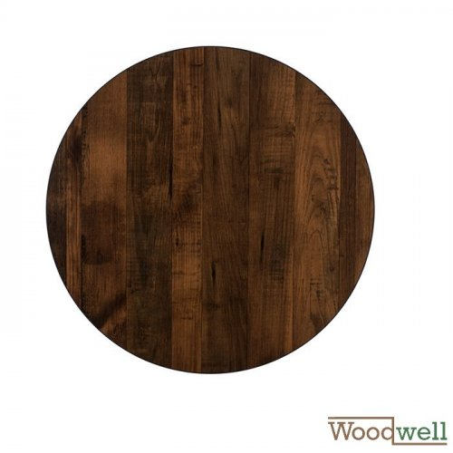 "Melamine 32 mm table tops buy cheap | Table top in ""Walnut"" Ø 60 cm"