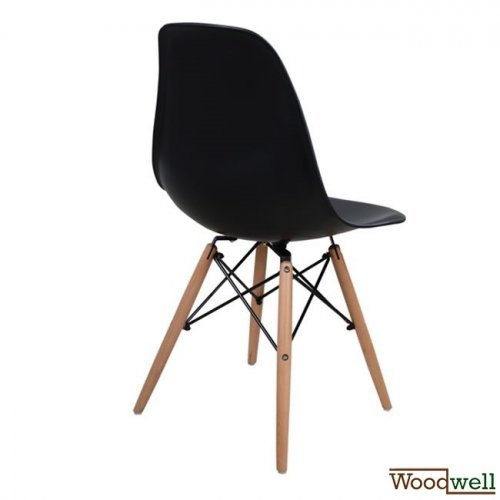 Eames chair DSW Black-Woodwell