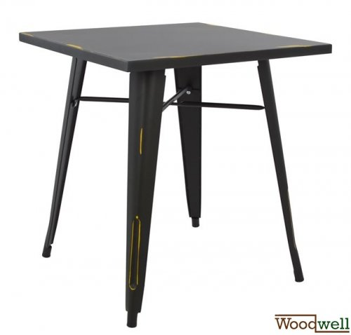 Metallic table in black patina color 70x70x76cm
