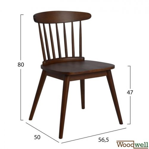 Marini kitchen and dining room chair made of wood in walnut