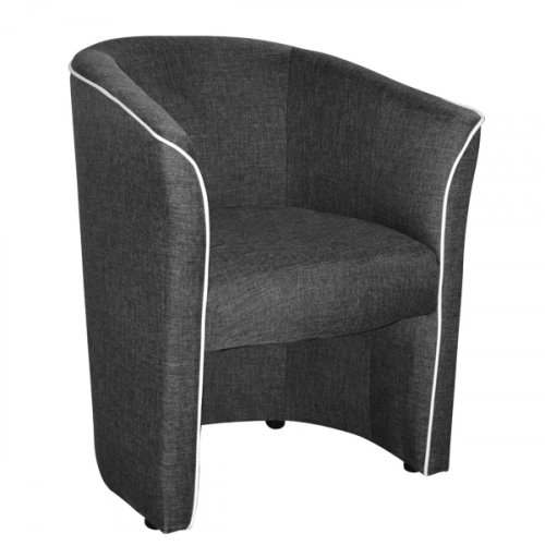 """Banny"" cocktail chair in modern design in gray"
