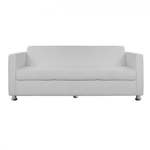 Sofa 3-seater imitation leather white