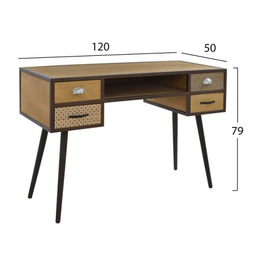 Console table SIXTIES 120x50x79cm