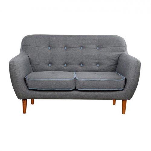 sofa 2 sitzer strukturstoff. Black Bedroom Furniture Sets. Home Design Ideas