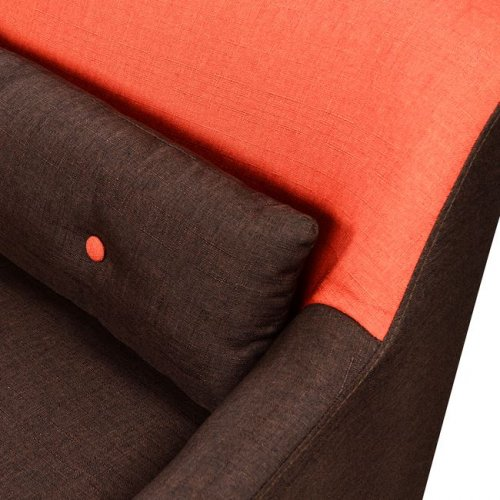 Sofa 3 seater brown-orange