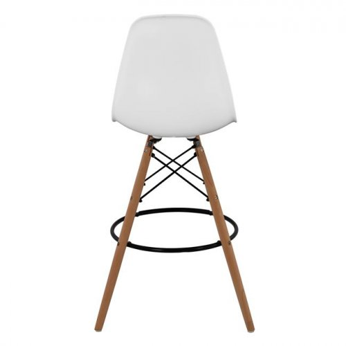 Bar stool EAMES with armrest | In white