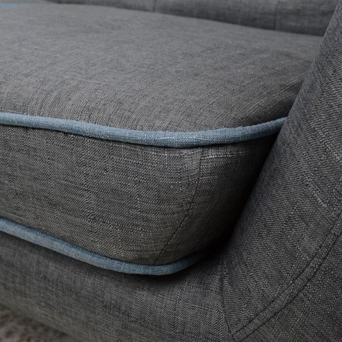 Sofa 3-seater textured gray