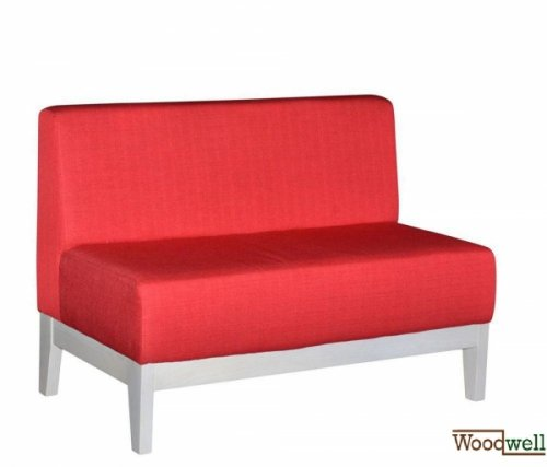 Two-seater bench with comfortable seat and back cushions