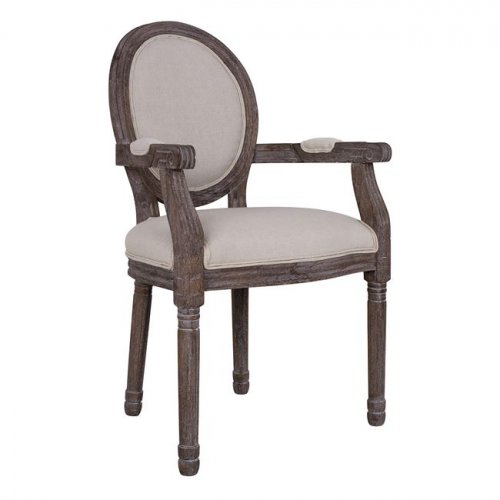 "Wooden chair ""BEATRIX"" with brown patina"