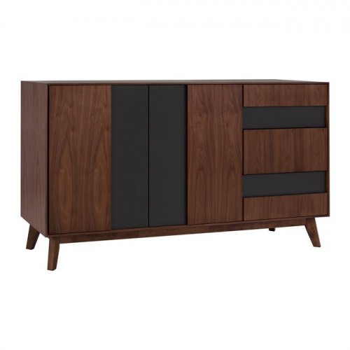 Chest of drawers with VENEER LEGS (dimensions 150x44x85,5 cm)