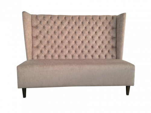 Comfortable sofa with high back cushion