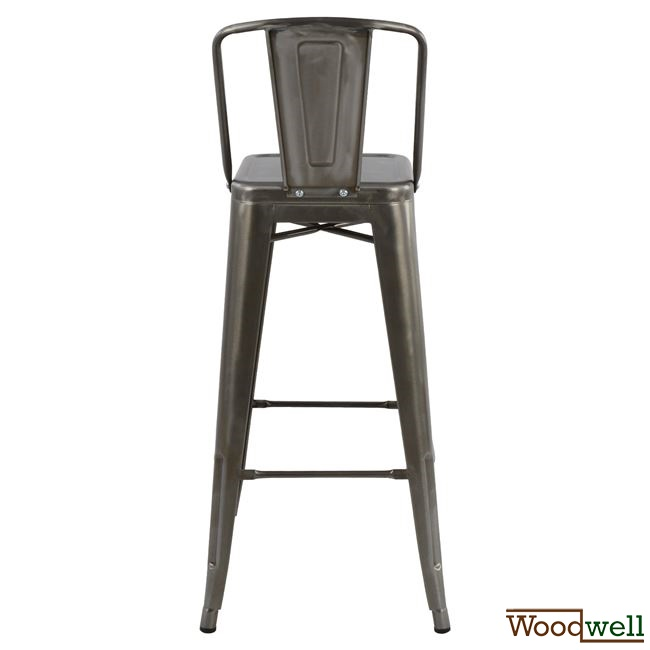 Metall barhocker shabby natural woodwell for Barhocker industrial style