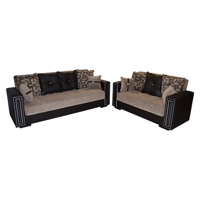 2 teiliges wohnzimmer set mit 3 sitz und 2 sitzer sofas ein muss fangen gelegenheit. Black Bedroom Furniture Sets. Home Design Ideas