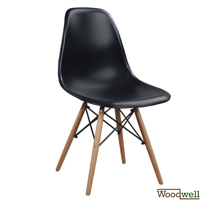 eames stuhl dsw schwarz woodwell. Black Bedroom Furniture Sets. Home Design Ideas