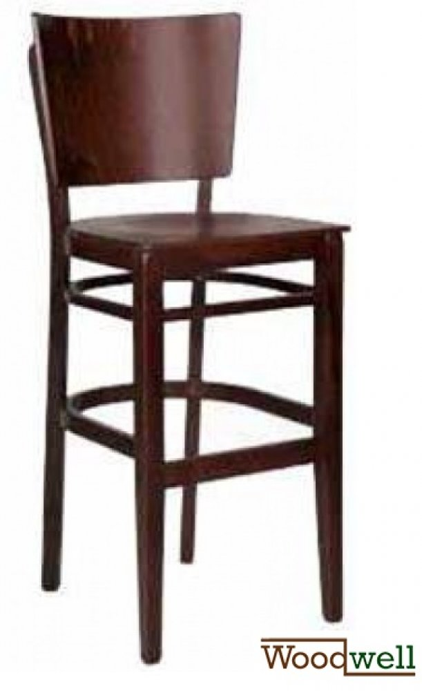 "Noble bar stool made of beech wood in the colour ""wenge"""