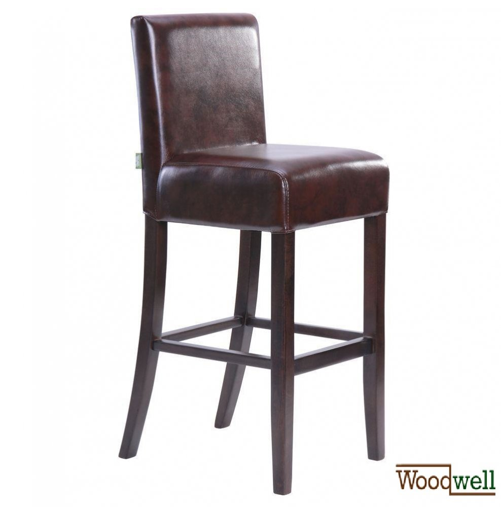 Noble bar stool made of beech wood in brown
