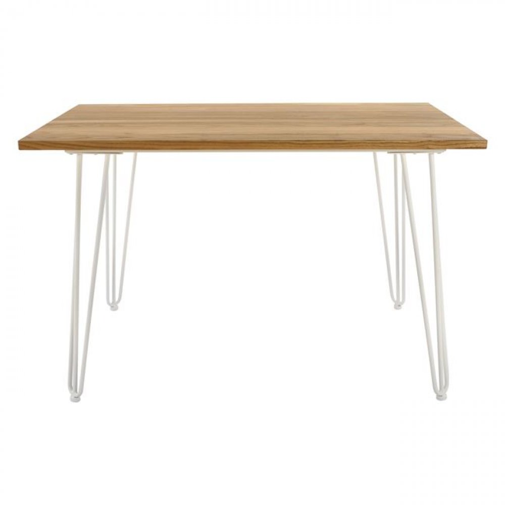 Resident dining table NATURAL WOOD 120x70x76cm | In white