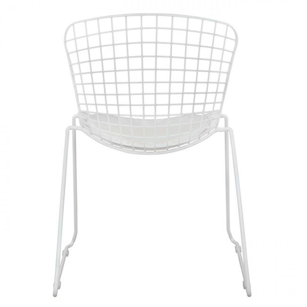 Harry Bertoia Wire | Stuhl in Weiß