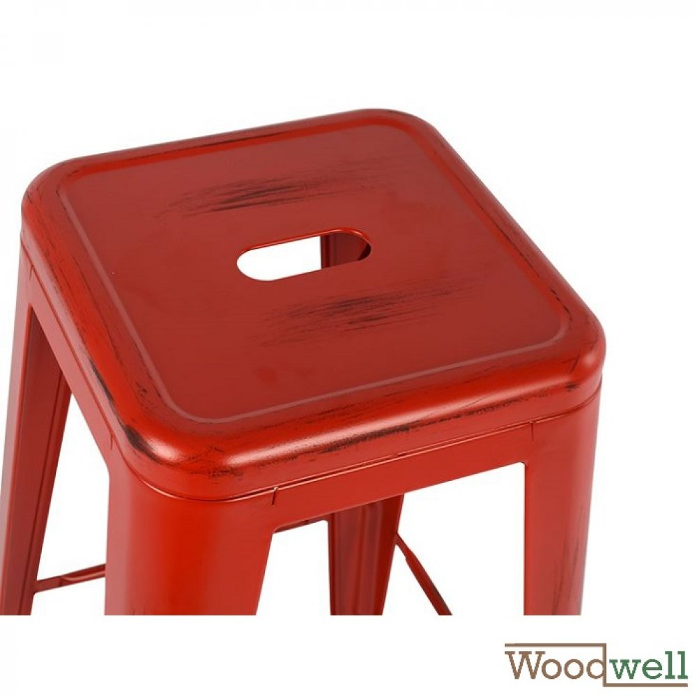 "Outdoor Barstool buy cheap | Design Barstool ""Melita"", in Red (Patina)"