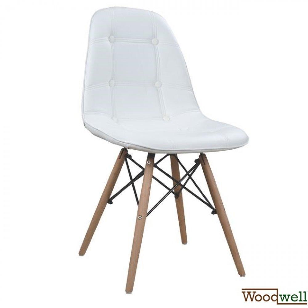 stuhl inspiriert design eames esszimmmerstuhl kunstleder pu wei woodwell. Black Bedroom Furniture Sets. Home Design Ideas