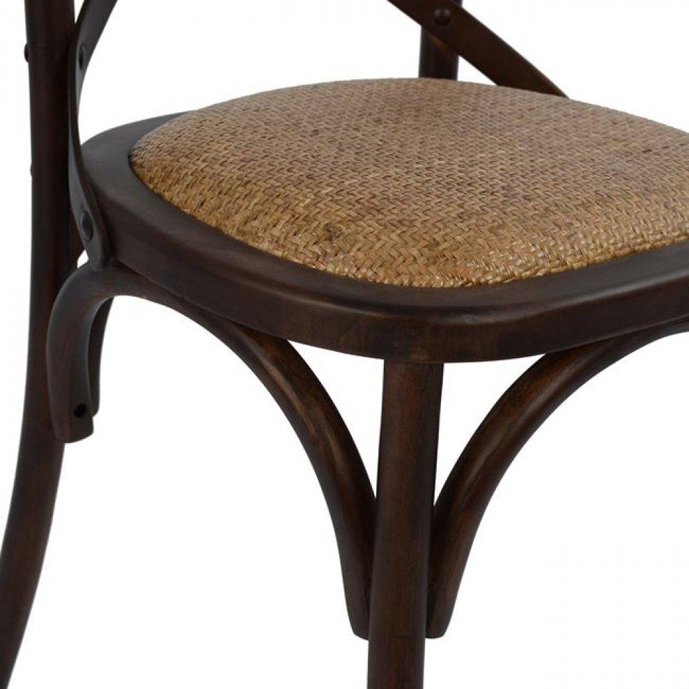 bistrostuhl esszimmerstuhl designer stuhl aus holz braun. Black Bedroom Furniture Sets. Home Design Ideas