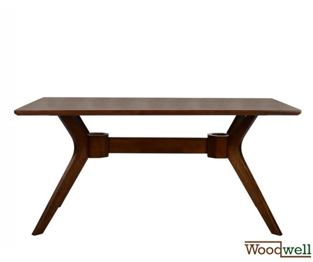 "Wooden table with an elegant design in the color ""walnut"""