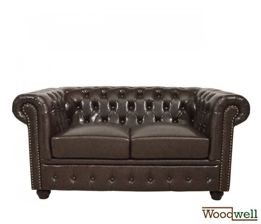 Chesterfield-sofa-zweisitzer-in-braun-kunstleder-woodwell.de
